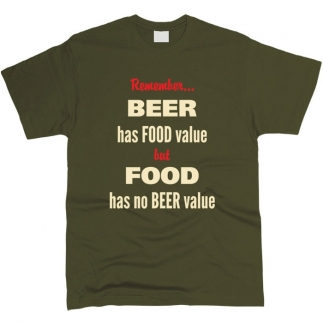 Beer Has Food Value - Футболка