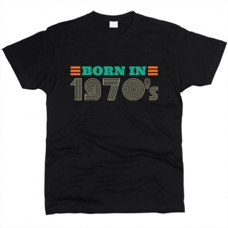 Born In 1970s 01 - Футболка мужская