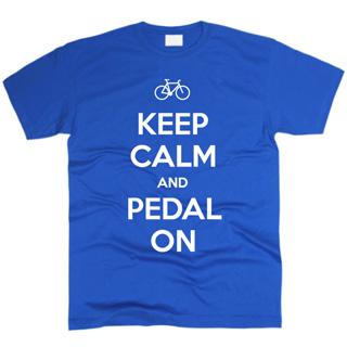 Keep Calm And Pedal On - Футболка