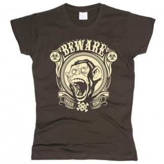Beware Urban Monkey - футболка женская