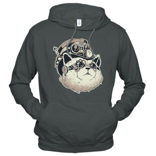 Steampunk Cat  - Толстовка мужская