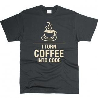 I Turn Coffee Into Code 01 - Футболка мужская