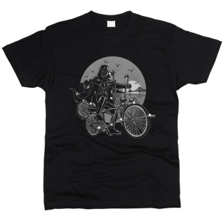 Дарт Вейдер на велосипеде 01 - Футболка мужская