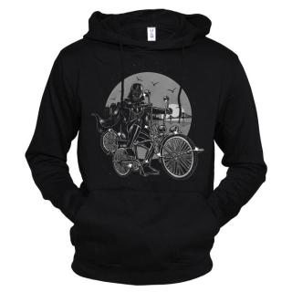 Дарт Вейдер на велосипеде 01 - Толстовка мужская