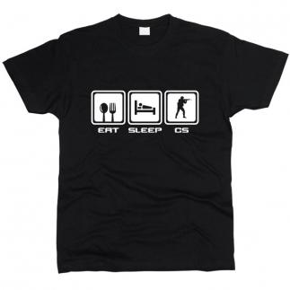 Eat Sleep CS - Футболка мужская