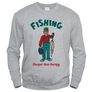 Fishing Cheaper Then Therapy - свитшот мужской