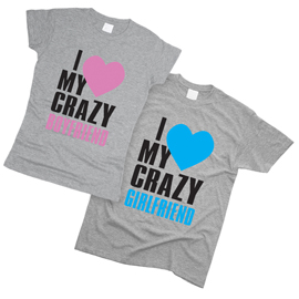 I Love My Crazy 01 - Футболки парные