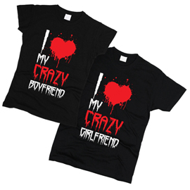 I Love My Crazy 02 - Футболки парные