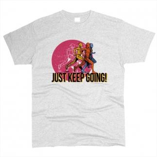 Just Keep Going 01 - Футболка мужская
