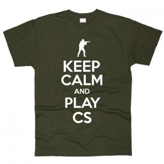 Keep Calm And Play CS 01 - Футболка мужская