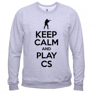 Keep Calm And Play CS 01 - Свитшот мужской