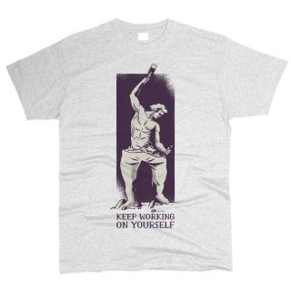 Keep Working On Yourself 01 - Футболка мужская