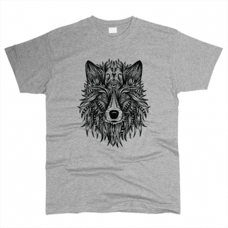 Волк 01 - Футболка мужская