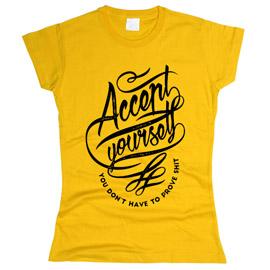 Accept Yourself - футболка женская