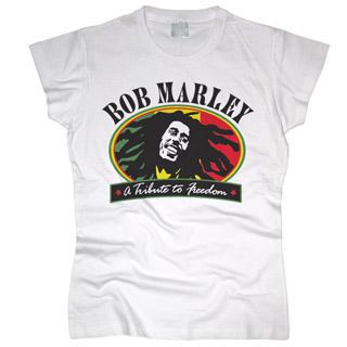 Bob Marley 02 - Футболка женская