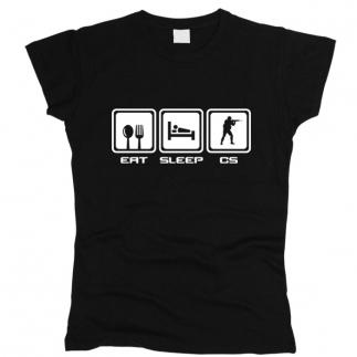 Eat Sleep CS - Футболка женская