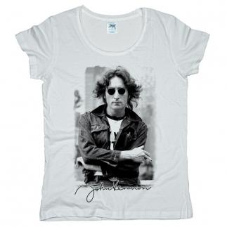 John Lennon 02 - Футболка женская оверсайз