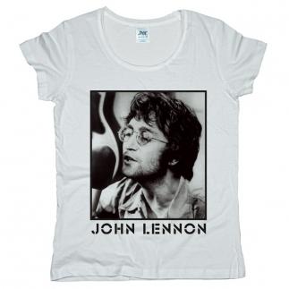 John Lennon 03 - Футболка женская оверсайз